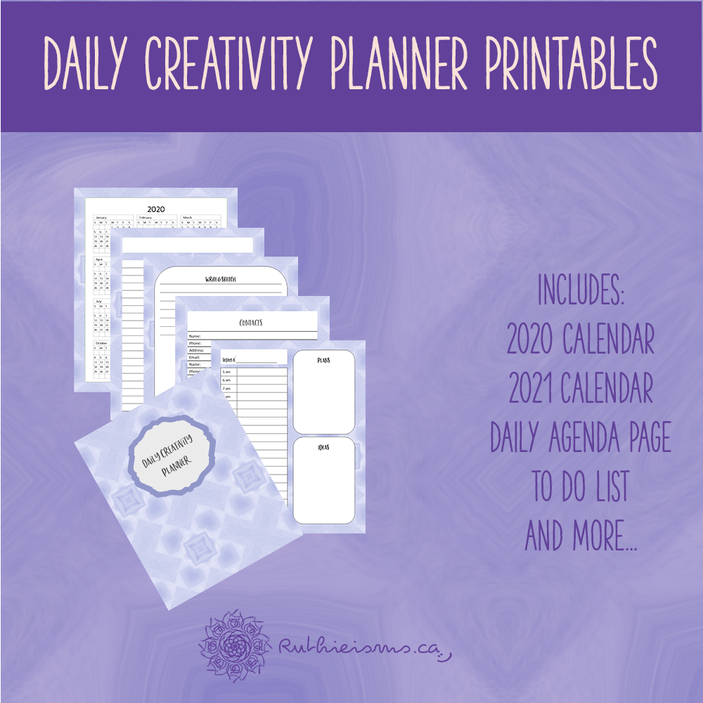 daily creativity planner promo image